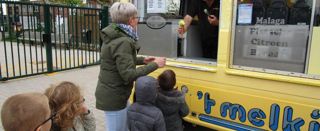 Verkeersweek afsluiten met een lekker ijsje!!